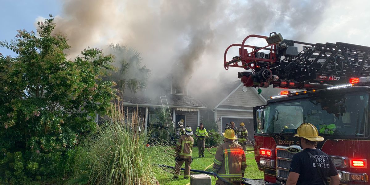 Horry County Fire Rescue responds to multiple fires related to lightning strikes