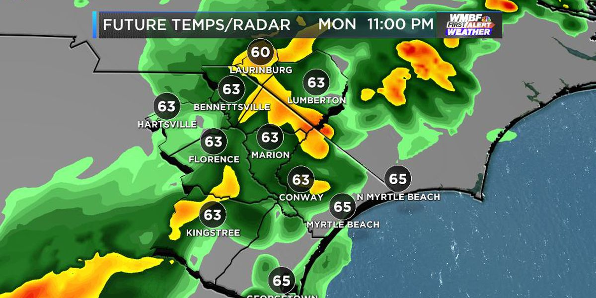FIRST ALERT: Rain tonight and 25° plummet in Tuesday temperatures
