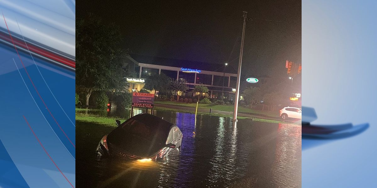Crews respond to sinking vehicle in Carolina Forest