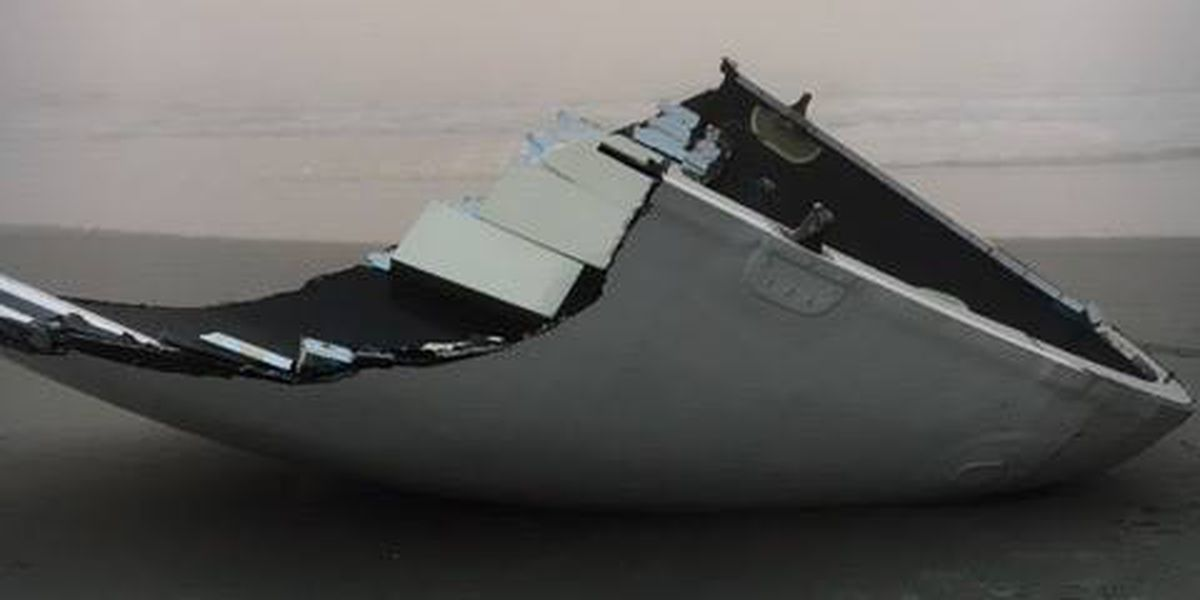 Piece of SpaceX debris washes on shore in North Myrtle Beach area