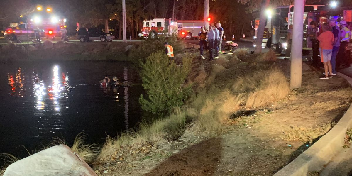 One dead after truck goes into pond along Highway 17 Bypass in Murrells Inlet